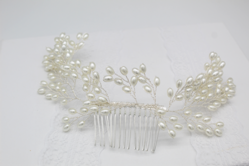 Margot Bridal  Pearl Hair Vine